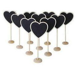 5PCS New Heart Shape Wooden Mini Blackboard Chalkboard