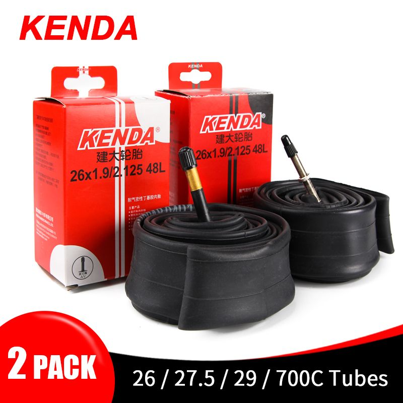 2PCS Kenda Bike Inner Tube For Mountain Road Bike Tyre Butyl Rubber Bicycle Tube Tire 26/27.5/29/700c Presta Schrader Valve Tube