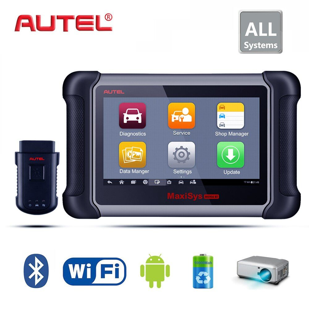 Autel Maxisys MS906BT Drahtlose Auto Diagnose Werkzeug Codierung System Unterstützung Injektor/Schlüssel Codierung wegfahrsperre Besser zu MK808, DS808