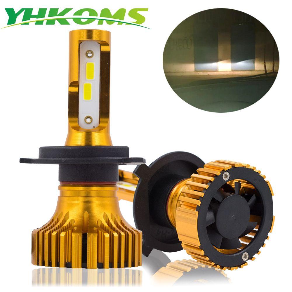 YHKOMS Car Headlight H4 LED H7 LED H8 H11 H1 H3 H9 9005 9006 HB3 HB4 880 881 H27 LED Bulb Auto Headlamp 12V Fog Light Lamp 6500K