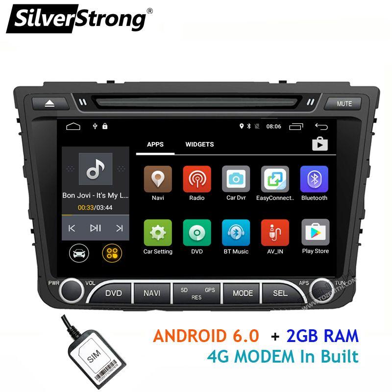 SilverStrong Quad 4 Core Android 4g SIM Auto DVD Für Hyundai Creta IX25 2014-18 mit 2 gb RAM 4g MODEM GPS Radio Navigation