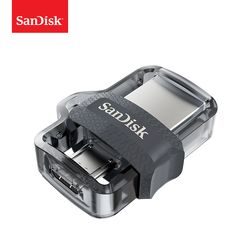 SanDisk OTG USB Flash Drive 32GB 16GB USB 3.0 Dual Mini Pen Drives 128GB 64GB PenDrives for PC and Android phones For shipping
