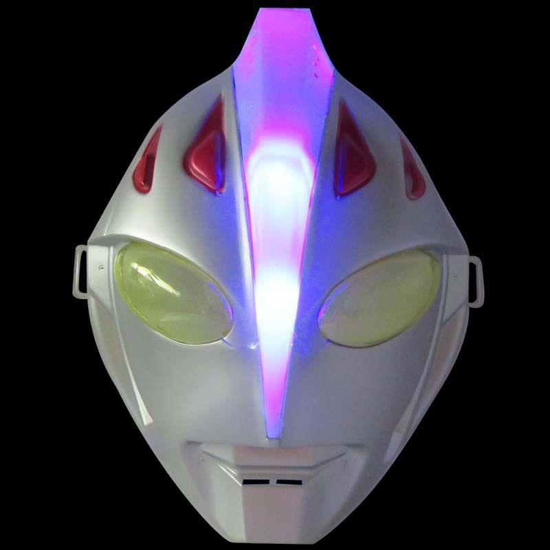 2019 vendre comme des gâteaux chauds 24 cm * 18.5 cm * 9 cm PVC Ultraman Jack masque lumineux modèle vacances cadeaux Hallowmas mascarade cosplay accessoires