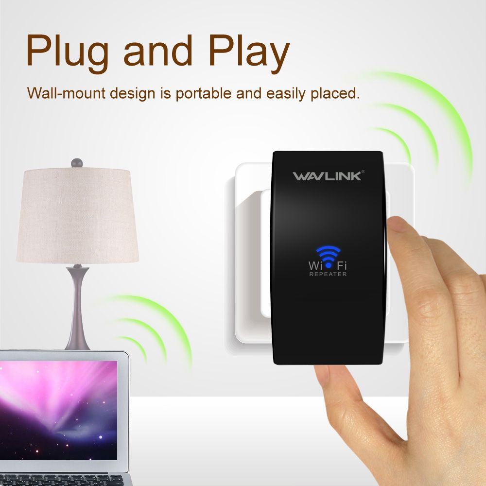 Wavlink Upgrade UltraMini N300 Wireless repeater WiFi Range Extender wifi Signal amplifier Booster WPS APP Easy setup page EU