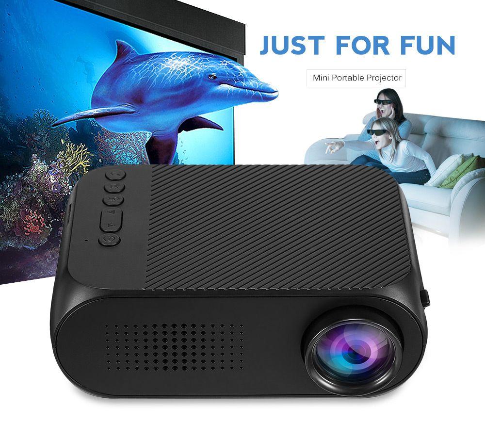YG-320 YG320 Mini LED Projecteur 1080 P Vidéo HDMI USB Proyector Haut-Parleur Intégré 400 Lumens 320*240 Home Cinéma cinéma Projecteur
