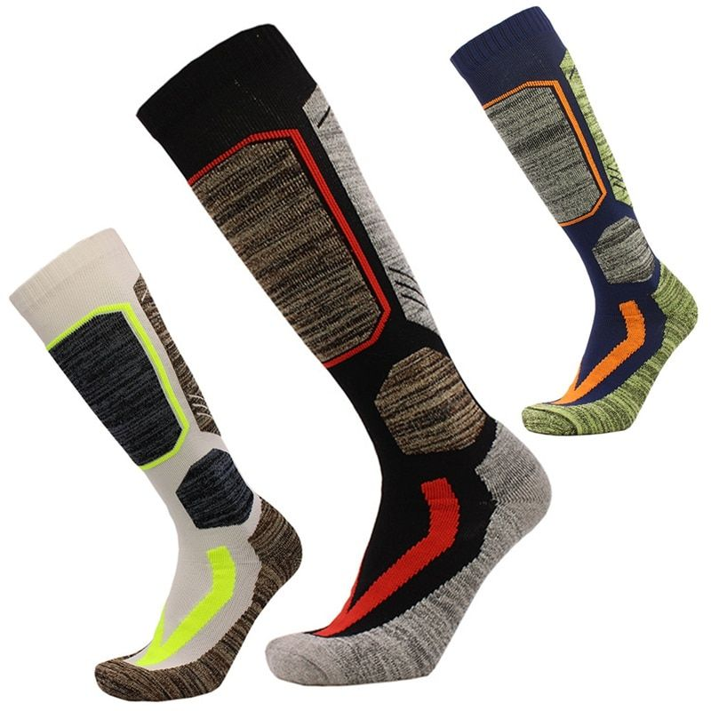 Winter Sports Socks Football Soccer Travel Cycling Socks for Men Elastic Cotton Warm Womens Long Knee Snowboard Ski Stockings