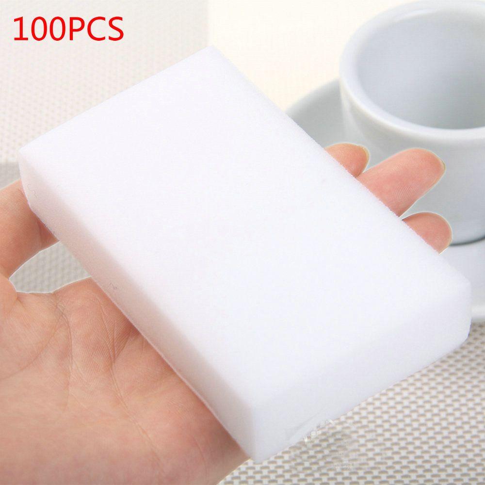 VIGAN 100 pcs/lot high quality melamine sponge Magic Sponge Eraser Dish Cleaner for Kitchen Office Bathroom Cleaning 10x6x2cm