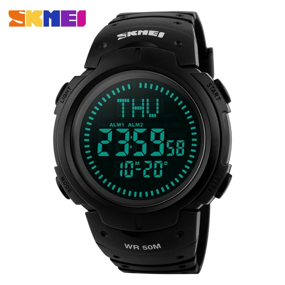 SKMEI Outdoor Chronograph Compass Watch Men Multifunction Waterproof LED Electronic Digital Sports Watches Fashion <font><b>Wristwatches</b></font>