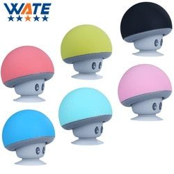 Portable Wireless Bluetooth Mini Speaker Mushroom Waterproof Silicon Suction Handfree Holder Music Player Free shipping