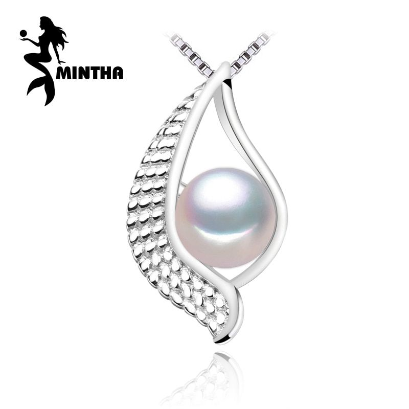 MINTHA 2017 nouvelle marque Fine bijoux pendentif en pierre naturelle d'eau douce beadsPearl Eye collier 925 bijoux en argent sterling collier