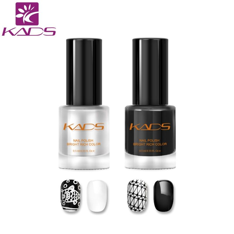 KADS New Arrival 2pcs Two in one Nail Stamping Polish set nail polish for stamping polish nail art varnish nail