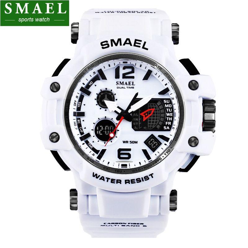 Mens Watches SMAEL Luxury Brand Quartz Clock Digital LED Watch Army Military Sport Watch <font><b>Male</b></font> Chronograph relogio masculino,