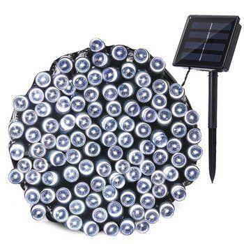Праздник Рождество светодиодная гирлянда света строка 100 LED Солнечная Фея Освещение Водонепроницаемый Indoor/гулянку солнечного сада
