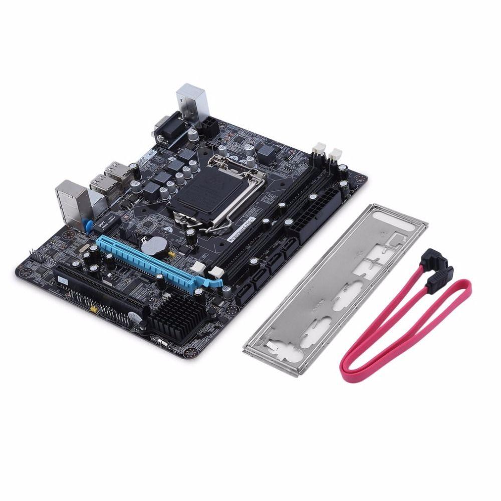 Intel P55 6 Channel Mainboard DDR3 Motherboard High Performance Desktop Computer Main board CPU Interface LGA 1156