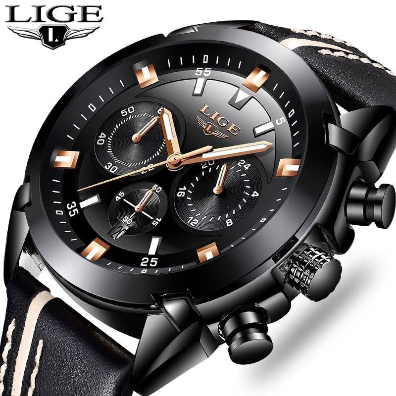 Relogio Masculino Men Watch LIGE Top Brand Casual fashion Watchs Waterproof Multi-function Military sport Quartz Clock Relojes