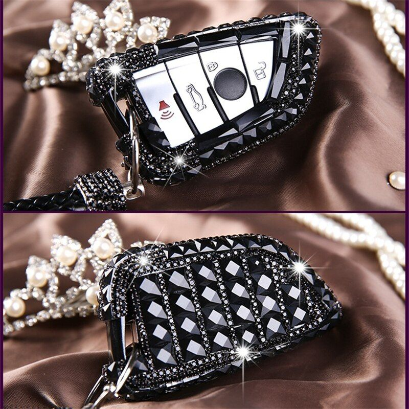 Lunasbore Роскошные Bling диаманта Ключи чехол/Оболочки для bmw 2/7 серии X1 X5 X6 автомобиль smart удаленный ключевой крышка