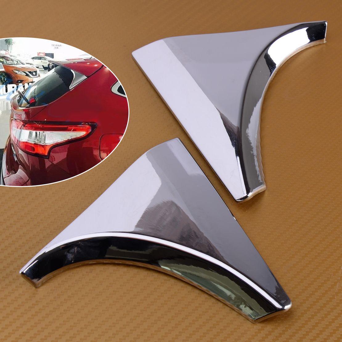 DWCX Car ABS Chrome 2Pcs Rear Window Tailgate Spoiler Trims Cover Fit for Nissan Qashqai J11 2014 2015 2016 2017 2018