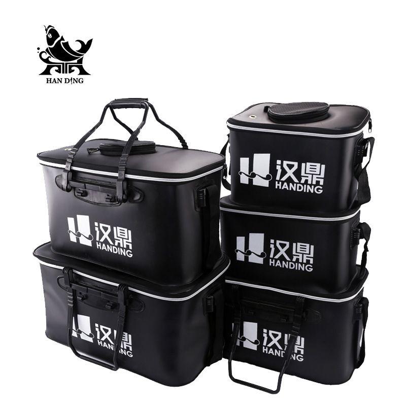 Handing Outdoor Portable Round fishing Bucket Live Fish BOX sea waterproof Bucket Fishing accessories Fishing tools