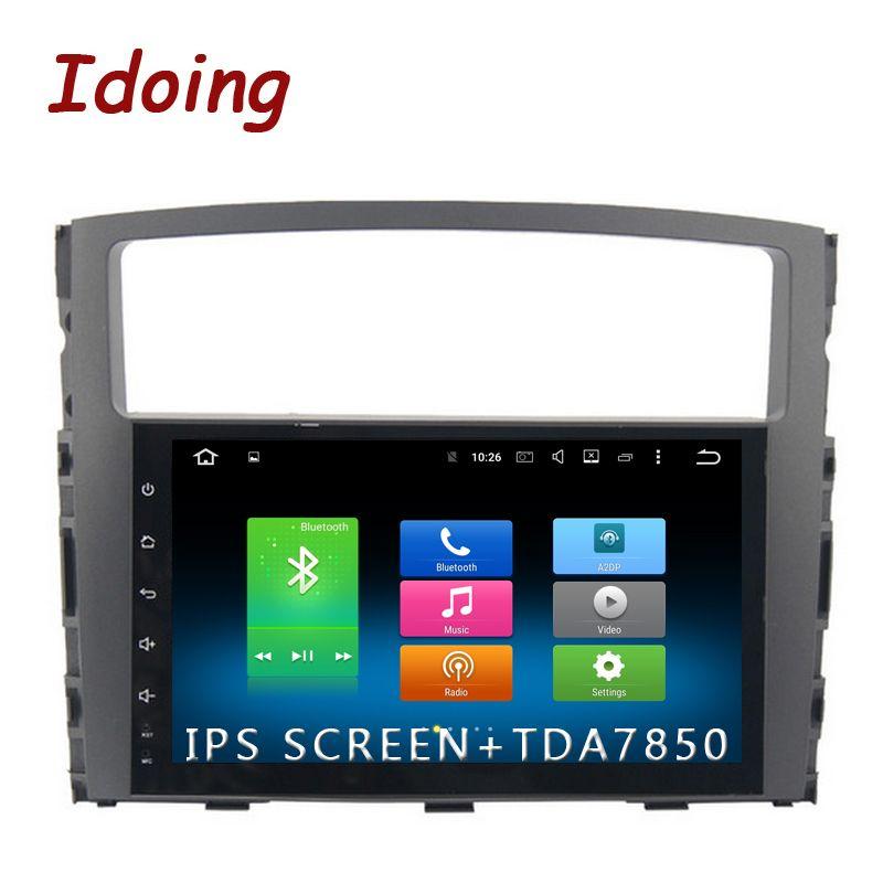 Idoing 1Din 9 zoll 8 Core IPS Bildschirm Android6.0/8,0 Auto Multimedia Radio Video Player Fit MITSUBISHI PAJERO V97 v93 2006-2011