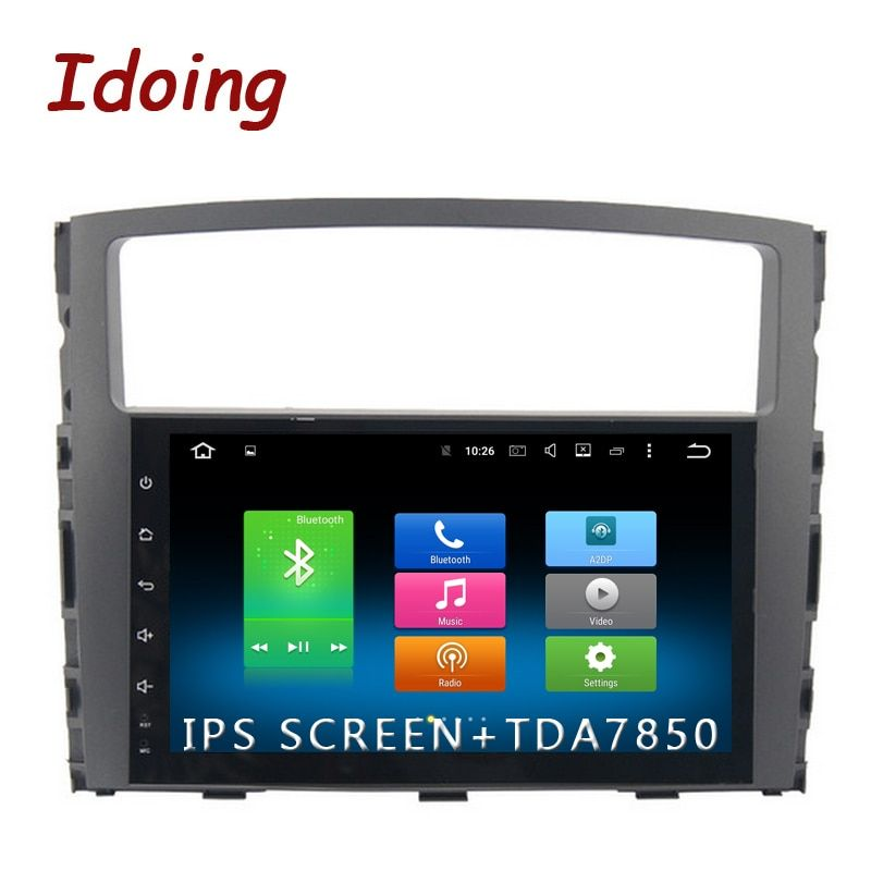 Idoing 1Din 9inch 8 Core IPS Screen Android6.0/8.0 Car Multimedia Radio Video Player Fit MITSUBISHI PAJERO V97 V93 2006-2011