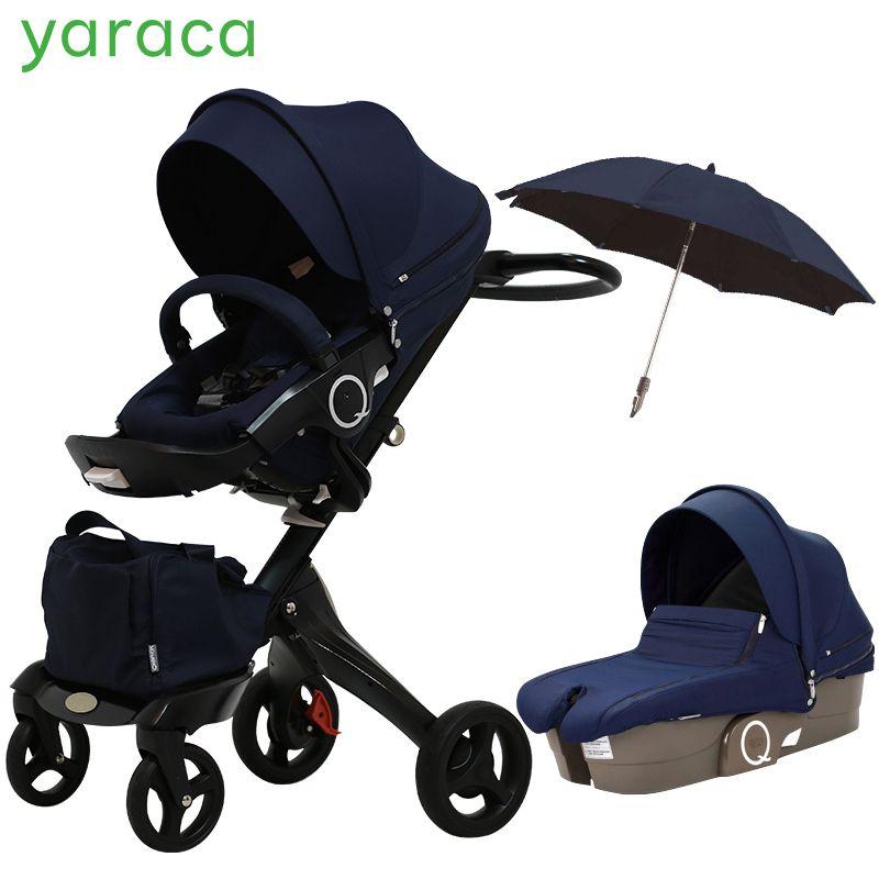 2 In 1 Baby Kinderwagen Hohe Landschaft Klapp Tragbare Baby Wagen Für Neugeborene Luxus Kinderwagen Für Kinder Von 0- 3 jahre Alt