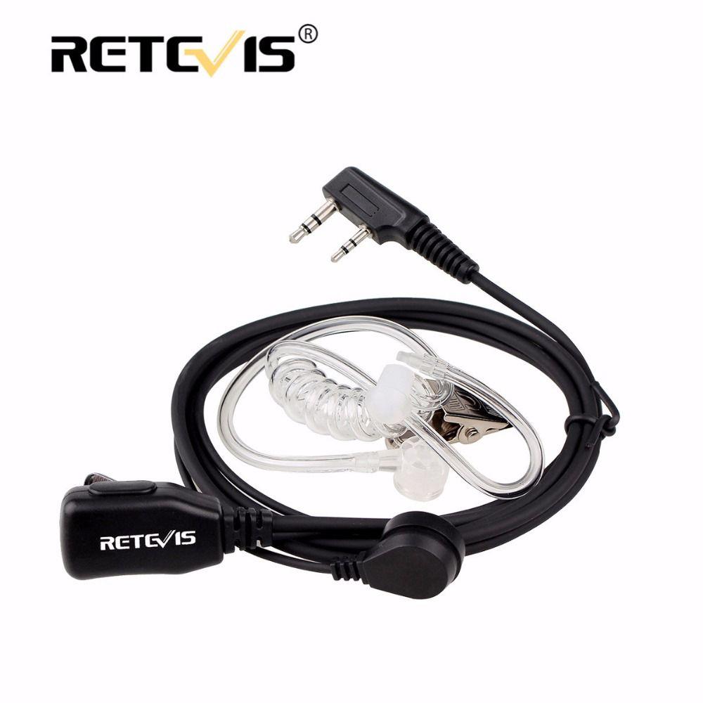 2Pin PTT Mic Headphone Walkie Talkies Headset For Kenwood Baofeng UV-5R UV82 Bf-888S Retevis RT21 RT7 H777 For HYT For WLN KD-C1