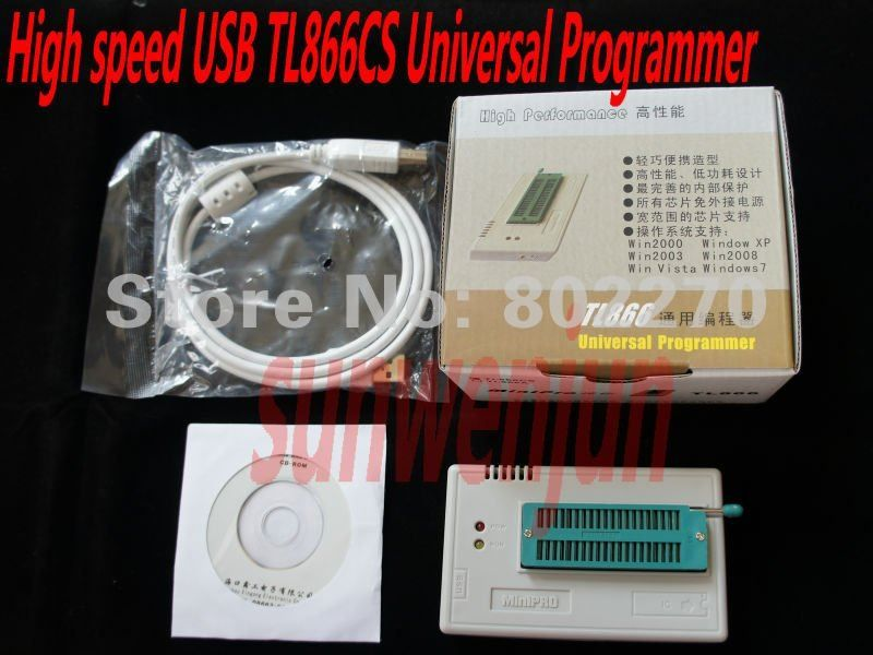 USB MiniPro TL866CS Universal BIOS Programmer EPROM FLASH 8051 AVR GAL PIC support more than 13000 chips/WIN7 64 Bit system