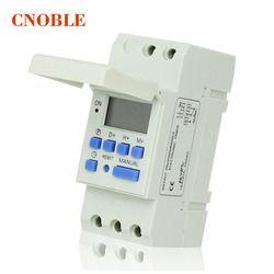 AC 220 V Numérique LCD Puissance Minuterie Programmable Interrupteur Horaire Relais 16A BONNE temporizador Din Rail