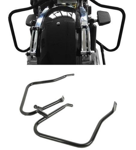 Schwarz Sattel Halterung Schutz Bar Für Harley Street Road Glide FLHX FLTR 2014 + Motorrad