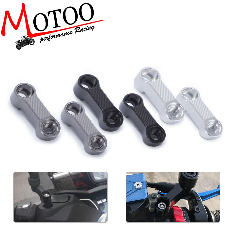 Motoo - Bolts Size 10mm Mirrors Extension Riser Extend Adapter For Yamaha FZ-07 MT-07