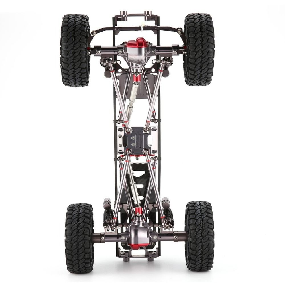 CNC Aluminum Metal and Carbon Frame Body for RC Cars 1/10 AXIAL SCX10 Chassis 313mm Wheelbase Vehicle Crawler Car Part Accessory