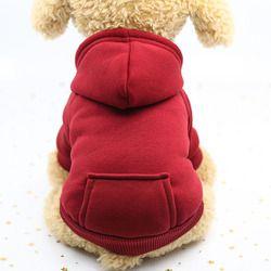 6 ألوان القط الملابس كلب صغير القطة الناعمة معطف هوديس الرياضية جرو هريرة سترة زي القط رياضية xs sml xl xxl
