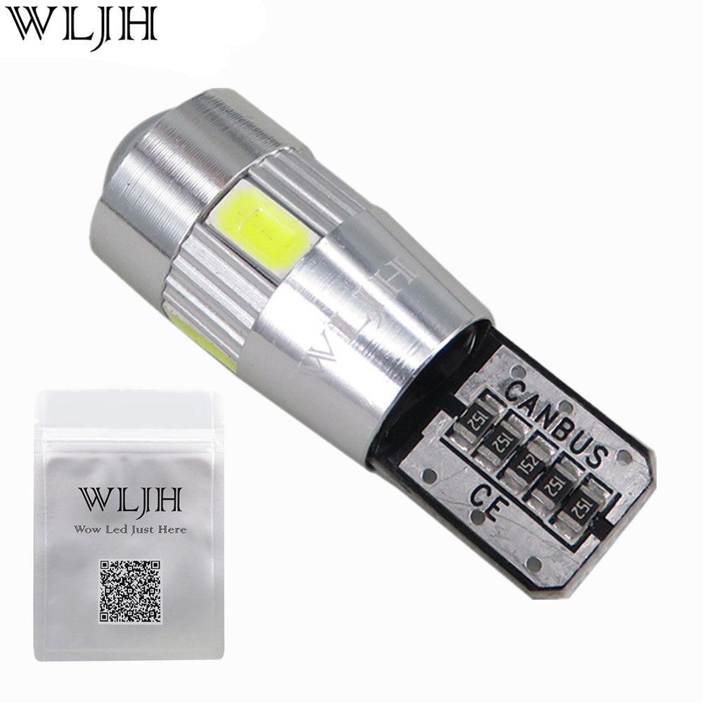 WLJH 2 stücke Hohe Leistung T10 LED Fehlerfrei für SAMSUNG Chip 5630 Led-lampe Canbus für AUDI A2 A3 A4 A6 A8 8L 8 P B5 B6 B7 8 H 4B 4F D2