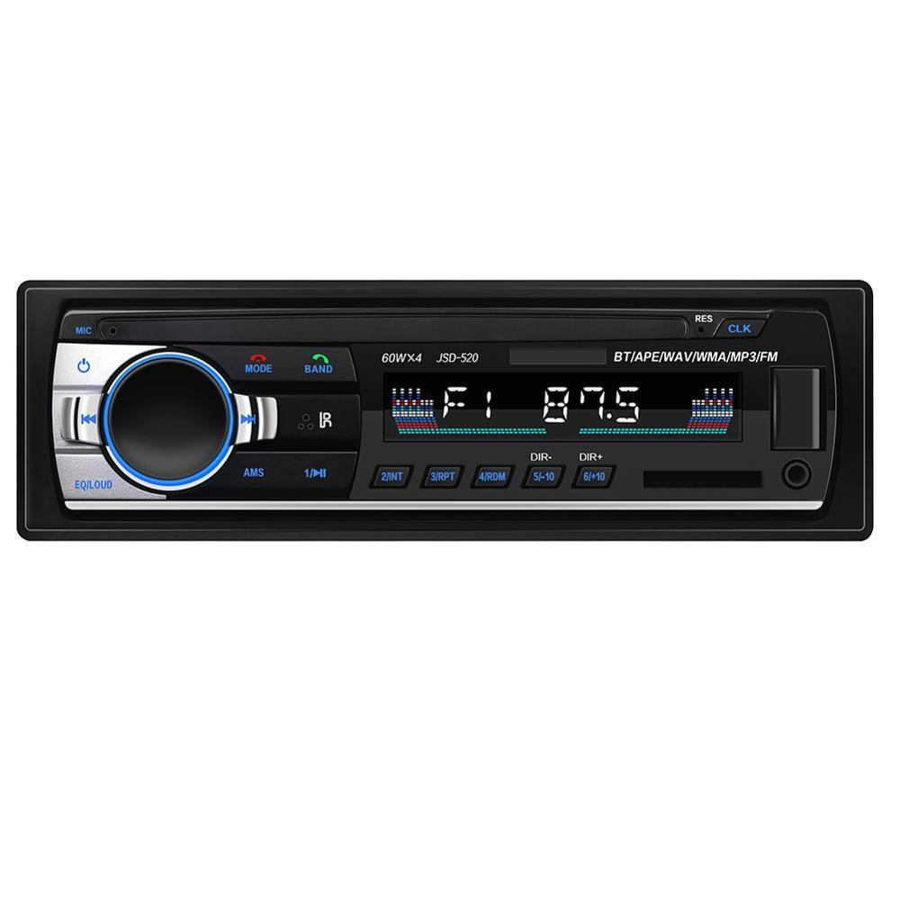Autoradio Lecteur Stéréo Bluetooth Téléphone AUX-IN MP3 FM/USB/1 Din/télécommande Pour Iphone 12 V Voiture Audio Automatique 2019 Vente Nouveau