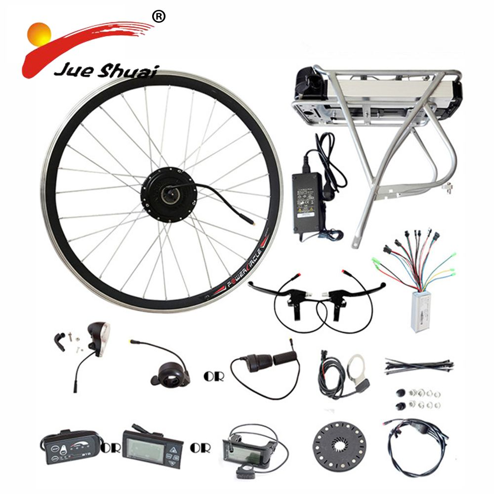 Rear Rack Samsung 36V 48V Lithium Battery 250W 350W 500W Motor Wheel E bike Conversion Kit LED LCD Display Electric Bike Kits