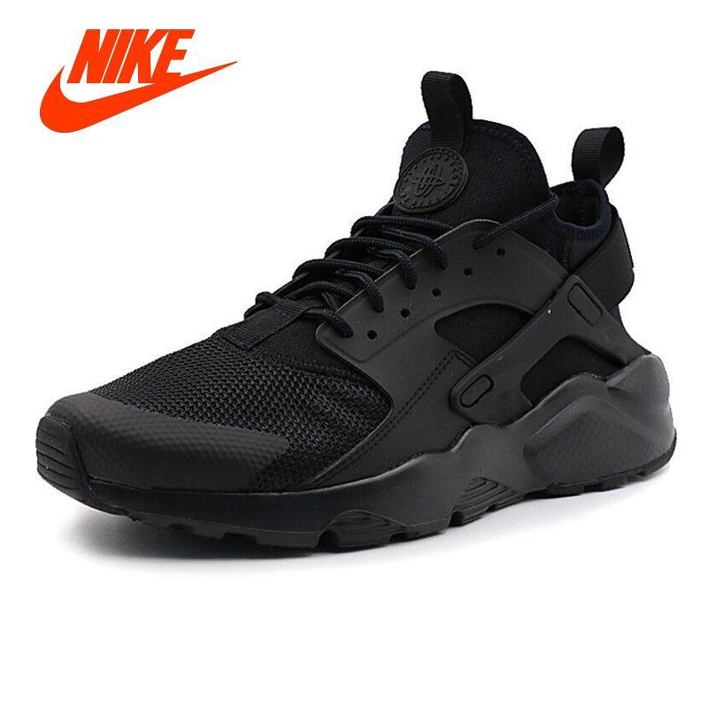 Original Men Black NIKE AIR HUARACHE RUN ULTRA Men's Breathable Running Shoes Sneakers Classic Tennis Shoes for Men