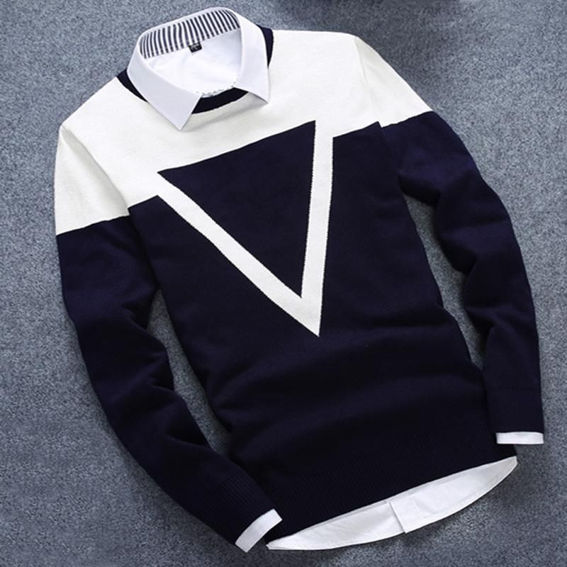 New Design 3 Colos Fashion Man Sweater Men Casual Cotton Fall <font><b>Autumn</b></font> Mens Sweaters Keep Warm Winter Pull Homme