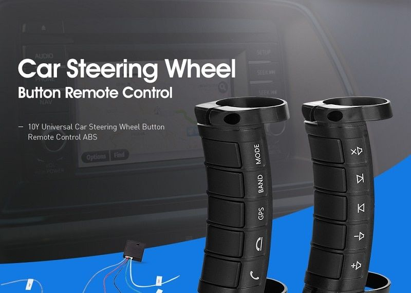 Multifunctional Remote Controll 10Y Universal Car Steering Wheel Button Remote Control ABS Material Small Size