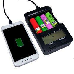 Liitokala lii-500 ЖК-дисплей 3.7 В/1.2 В AA/AAA/18650/26650/16340/14500/ 10440/18500 Батарея Зарядное устройство с экраном + 12V2A адаптер lii-500