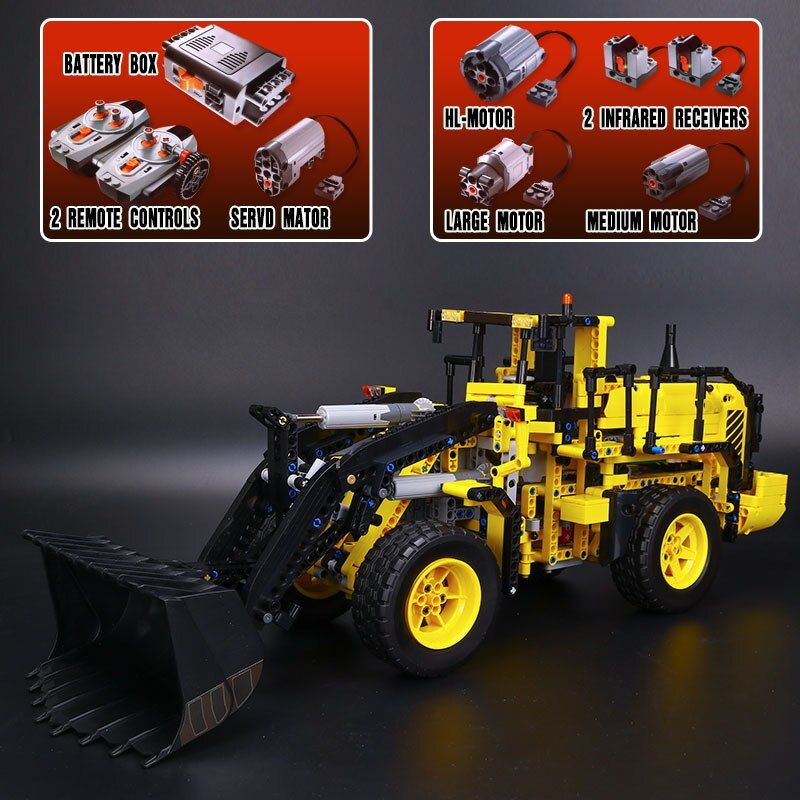 LEPIN 20006 technic series New 1636pcs Volvo L350F wheel loader Model Building blocks Bricks Compatible LegoINGlys 42030 gifts