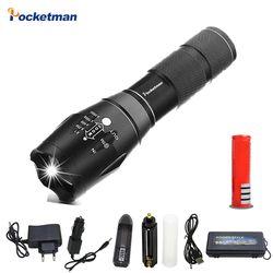 XPL-T6/L2/V6 Senter LED 12000LM Zoomable LED Torch untuk 18650/Baterai AAA Tahan Air Linterna LED Senter untuk Berkemah