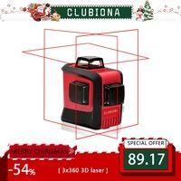 CLUBIONA 3D 360 Поворотный 12 поперечного уровня лазерные линии с наклоном slash функция, вертикальные и горизонтальные Супер Мощный приемник ОК