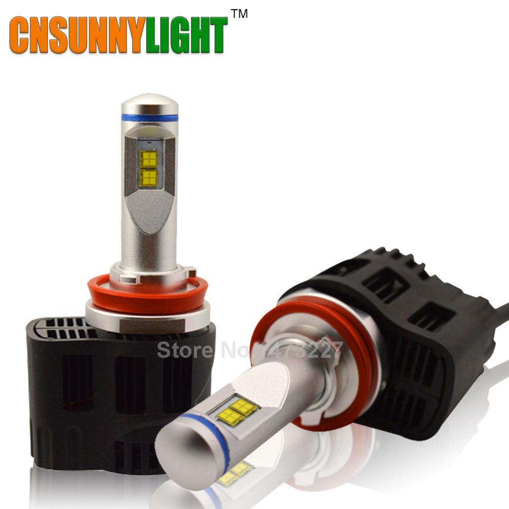 CNSUNNYLIGHT H11 9005 HB3 9006 HB4 H4 H7 LED 110W 10400LM/pair Car Headlight Canbus Kit 5000K 6000K Replace Auto Headlamp Bulbs
