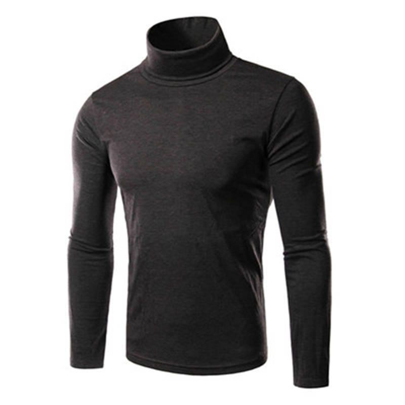 Herren Jumper Pullover Pullover Pullover Gestrickte Rollkragen Solide Qualität Beiläufige Dünne Gemütliche Tops Hübscher 0452