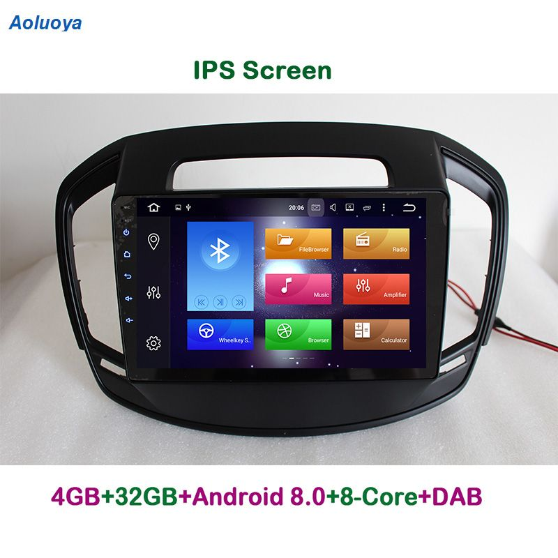 Aoluoya IPS 4G RAM 32G ROM Octa-Core Android 8.0 AUTO DVD GPS Navigation-Player Für Opel Insignia 2014 2015 2016 radio multimedia
