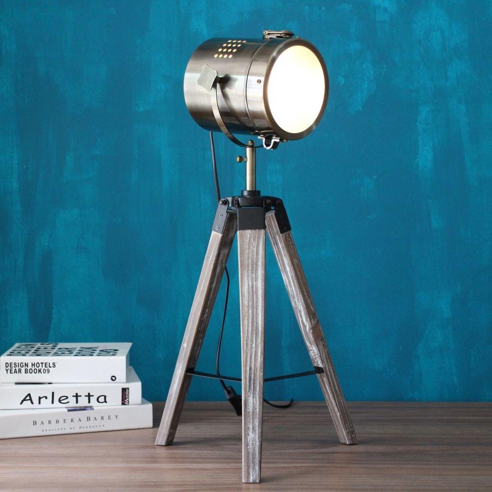 LED bois trépied Table recherche lumière bureau lecture lampe lampes lanterne bureau lumière bar, 220 V 110 V