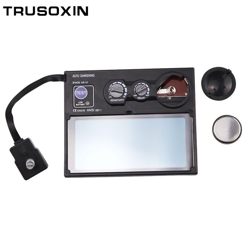 Solar Battery Outside Control Auto Darkening/Shading Grinding Welding <font><b>Helmet</b></font>/Welder Goggles/Weld Mask's Filter/Lens