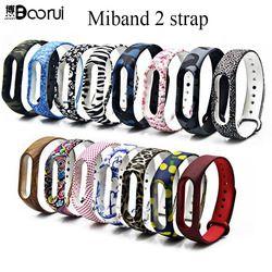 BOORUI Nouveau Mi Bande 2 Bracelet Bracelet Miband 2 Sangle Remplacement coloré bracelet de silicone pour xiaomi mi banda 2 smartband
