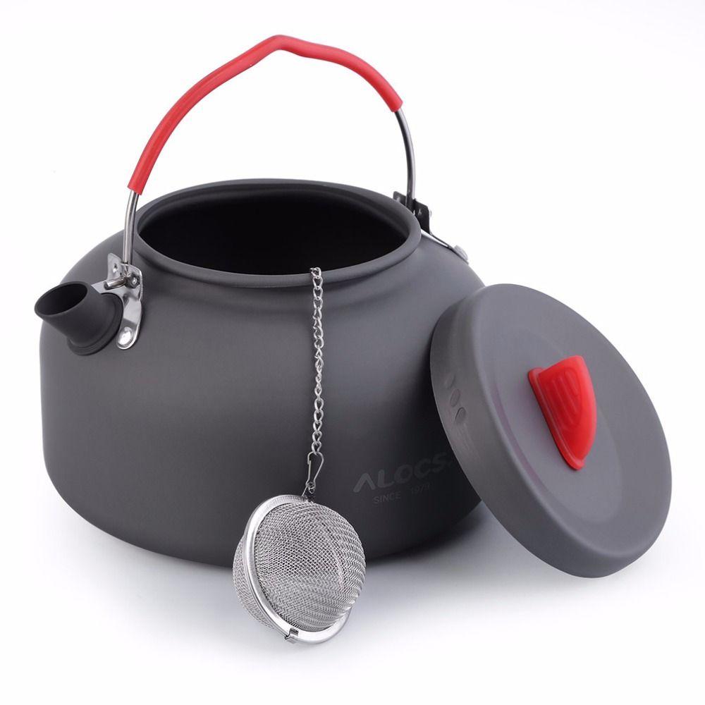 ALOCS 1.4l Алюминий cw-k03 Открытый чайник Кемпинг Пикник воды в чайнике Кофе горшок Бесплатная доставка