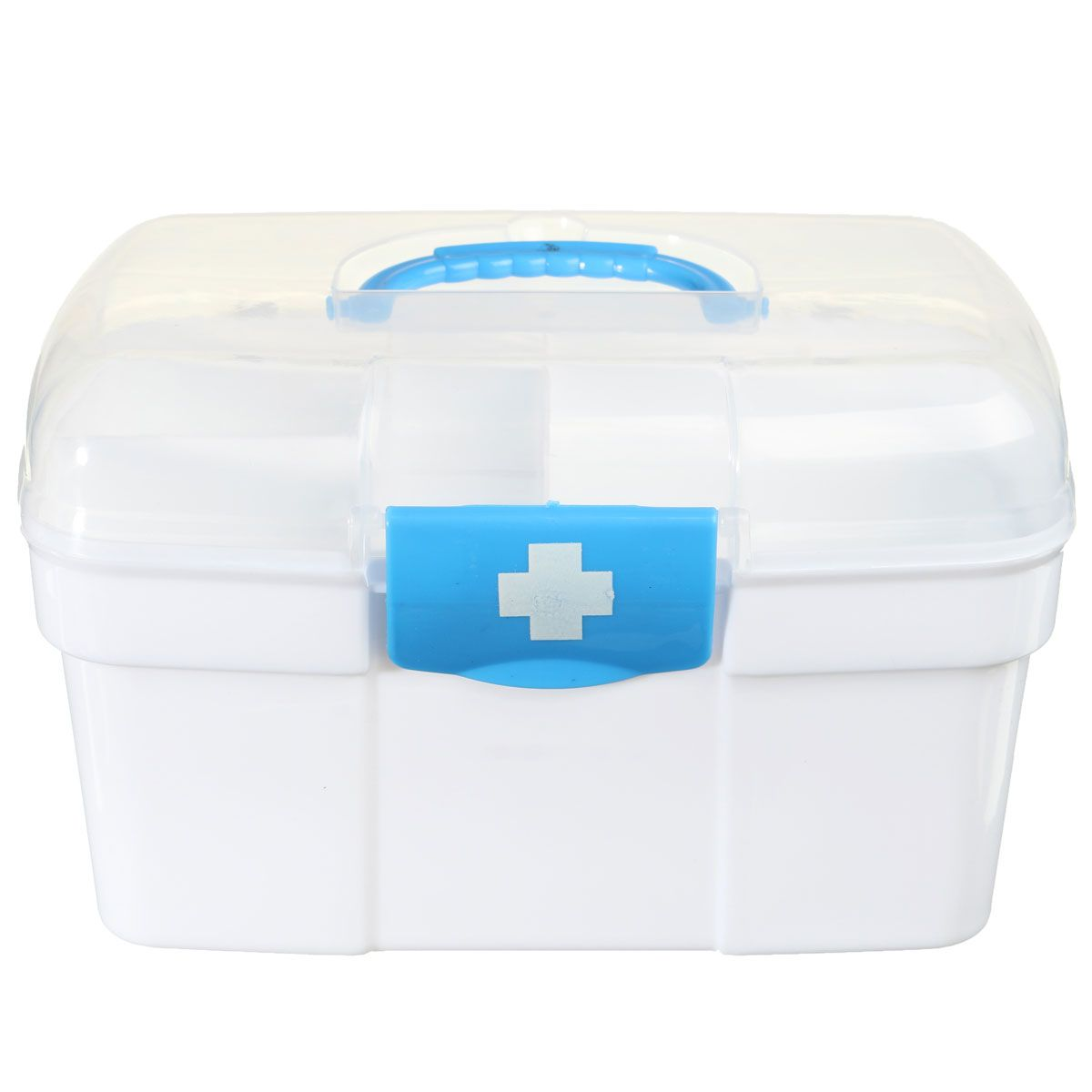 NEW Safurance Plastic 2 Layers Home Medicine Chest First Aid Kit Holder Storage Box Emergency Kits Security Safety